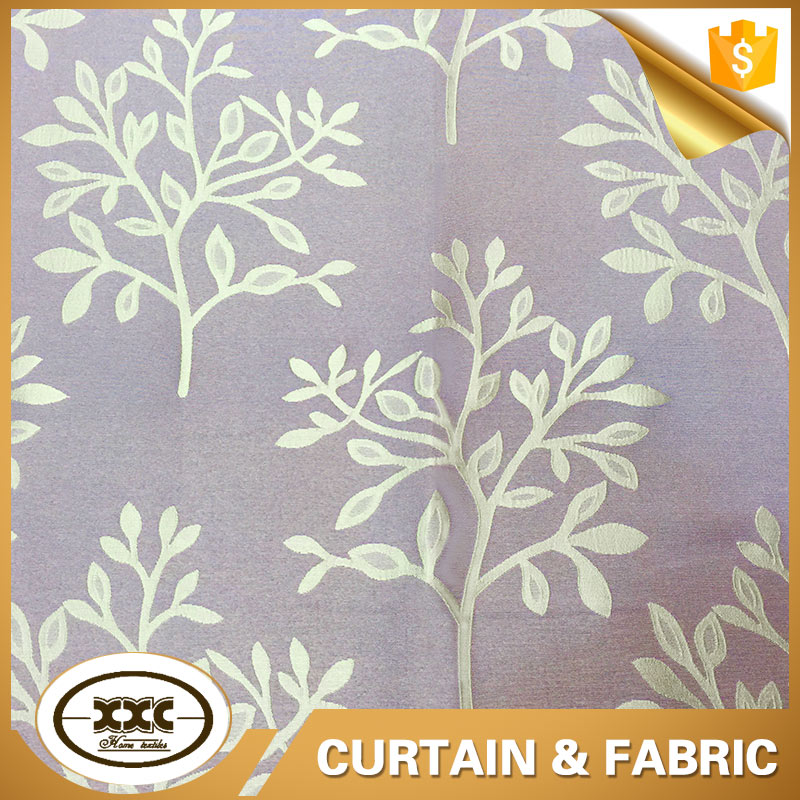 high quality tree design polyester jacquard blockout curtain