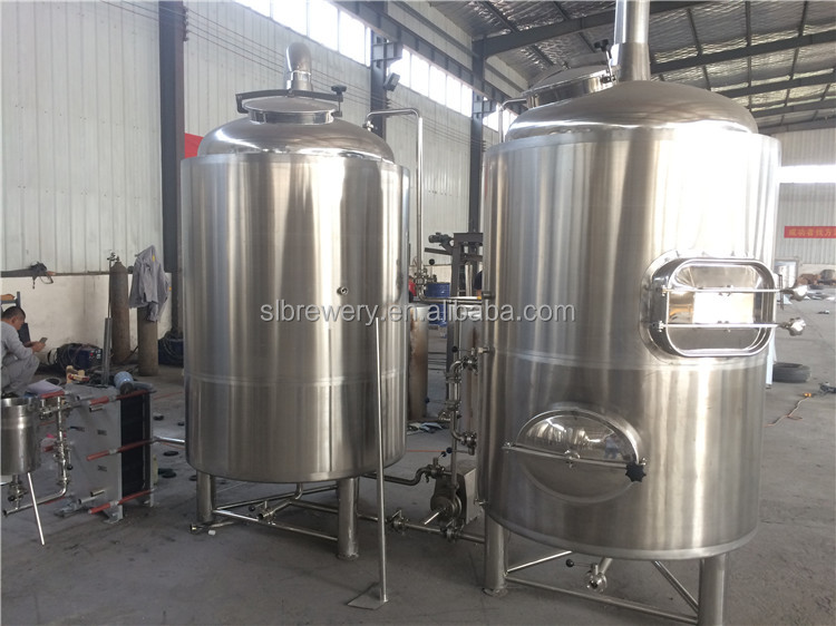 500l 1000l 2000l stainless steel conical beer fermenting equipment with jacketed for micro brewery
