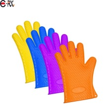 FDA Silicone Heat Resistant Grilling BBQ Gloves for Cooking Baking