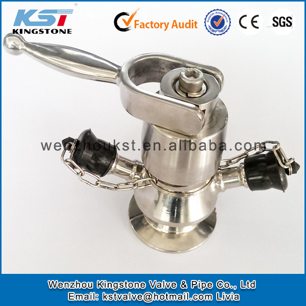 Cheap price stainless steel 316L aseptic sampling valve sanitary aseptic sample valve