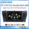 ZESTECH Factory OEM DVD 3G BT RDS car pc for toyota corolla pc dvd gps