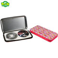 High Capacity Rectangle Beautiful Tin CD Case With Zipper