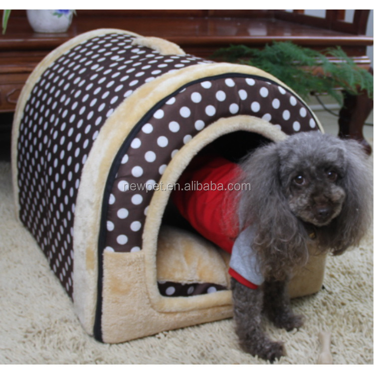 Top level new coming retro style arched sponge tent indoor dog cage pet house