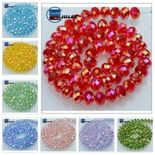 China Factory 6mm Faceted Crystal Glass Bead
