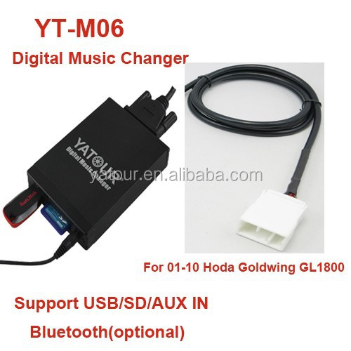 Yatour car digital CD Changer for Honda Goldwing GL1800>Car radio USB/SD/AUX/Bluetooth interfaces