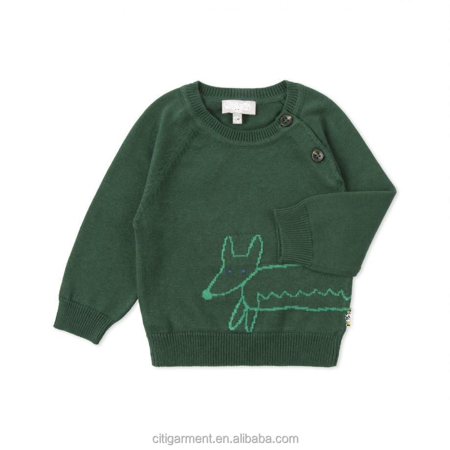 Baby Boys' Green Fox Knitted Sweater (0-3years)
