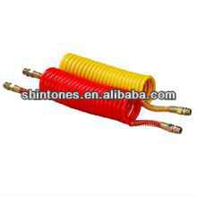 Air Brake Coils - Red and Yellow Air Suzie Hose - Spring Protect 22 Turns - With Joints