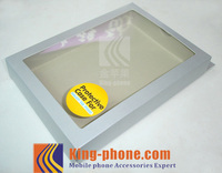 Customized paper box for cell phone case with plastic window, white gift box