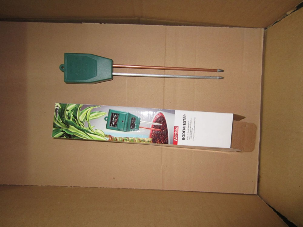 Green Handle Probe Soil pH Moisture Tester Meter New
