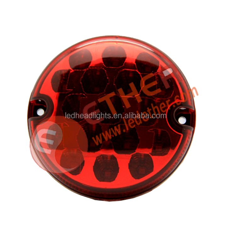 Round led truck tail lamp, led jeep wrangler tail lights