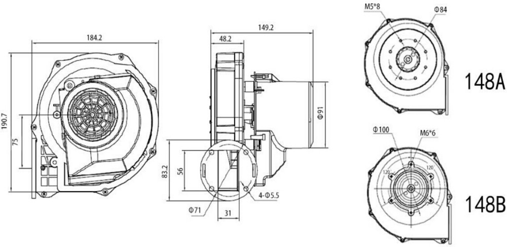 ac furnace fan blower