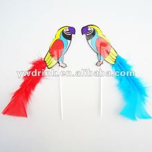 Loro de plumas decoracion fiesta stick pc