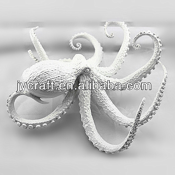 artificial small size scare octopus without painting handicraft sculpture for display