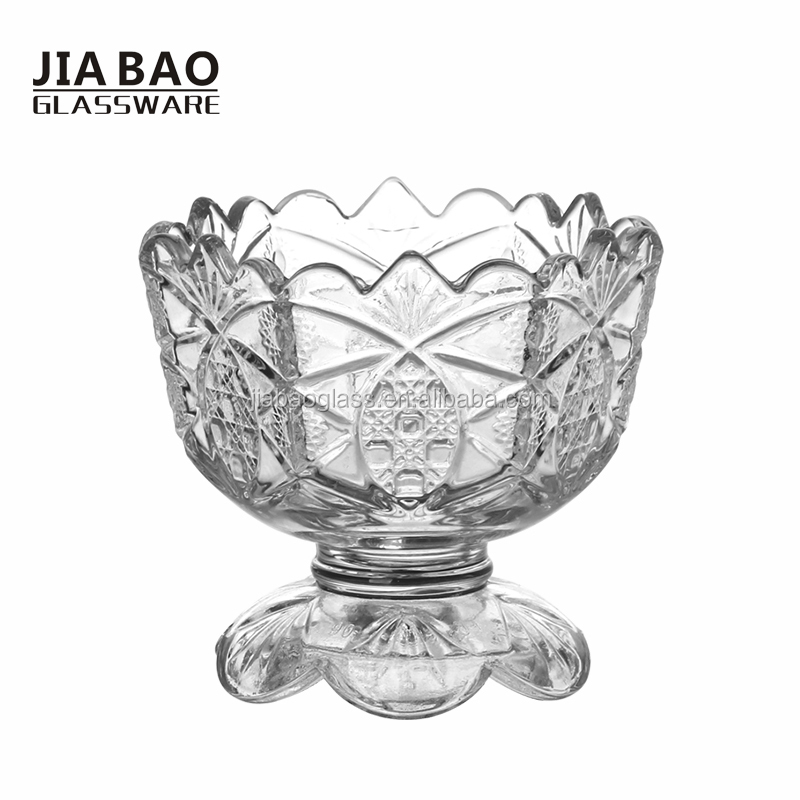 190ml Glass Ice Cream Bowl with Stand, custom ice cream bowl, ice cream sundae bowls GB1037FZ