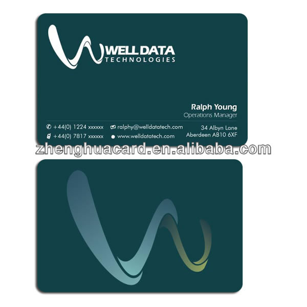 inkjet printable pvc Business card with Special Surface Options PVC card