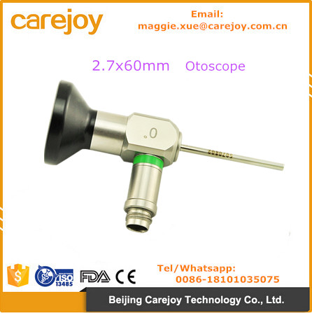 China medical factory price 2.7*60mm auriscope ENT surgical Otoscope Compatible Storz Wolf Olympus Endoscope