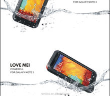 Hard Waterproof Gorilla Glass Small Waist Cover Case for Samsung Galaxy Note 3 N9000