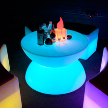 Hot Sell plastic bar table 16 color change outdoor led furniture coffee table chinese supply