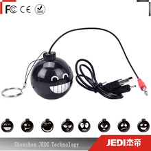 3.5mm jack portable stereo bomb shape mini mobile phone amplifier speaker for mp3 dvd_MO4047