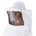 Professional Beekeeping Jacket Veil Suit Hat Pull Over Smock Protective Equip