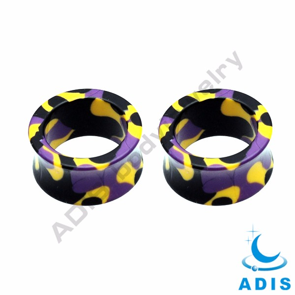 2017 new designs colorful body jewelry acrylic flesh tunnel plug earrings wholesale
