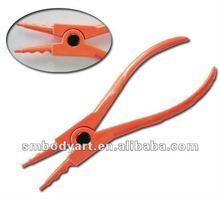 acrylic disposable ring opening body piercing clamps pliers with sterilized package--2400310