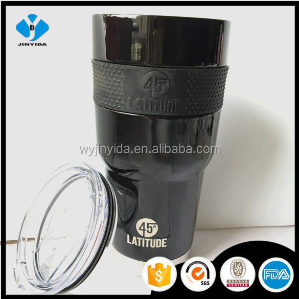 Power coating or matt painting 30oz Insulated Stainless Steel Tumbler With Slider lid dishwasher safety