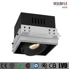 Square trimless 7W LED recessed downlight / CITIZEN COB adjustable halogen light / adjustable trimless LED downlight R3B0077