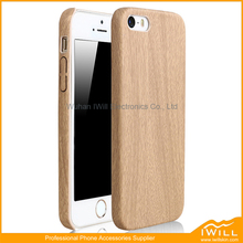 Birch Wooden Phone Case For iphone 5 / 5S / SE , PU Material Wood Design Wood Case For iphone Slim Back Cover
