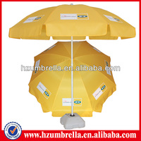 Yellow 210d oxford fabric printing beach umbrella for advertising promotion