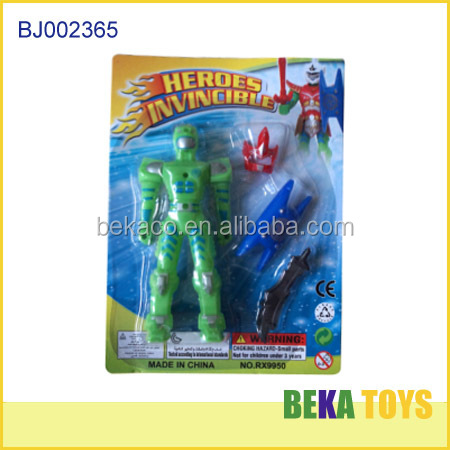 Very cheap toy for kids wholesale promotion toy plastic warrior small superman