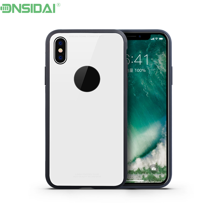 Eco-friendly Guangzhou factory ce approved tempered glass plastic for iphone x case+for apple for iphone x case
