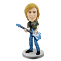 custom make pvc casual singer bobblehead,customized pvc material singer bobblehead