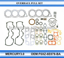 Auto spare part top engine repair gasket full set kit 3.0