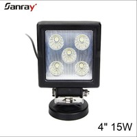 4 inch 15w 12/24v 6000k 9-32DC led work lamp for motorcycle/automotive/truck/trailer