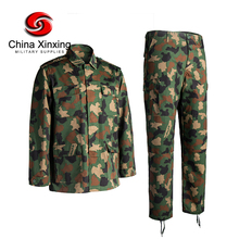 Nigeria Woodland Camouflage BDU uniform T/C 65%polyester 35%cotton 210GSM Ripstop Woodland Military Uniform