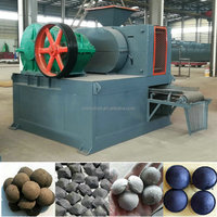 Charcoal coal dust fines hydraulic briquetting making machine factory price to make ball briquettes for Australia