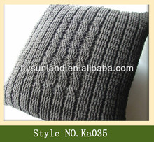 Fashion business handmade knit cushion cover crochet pillow cover