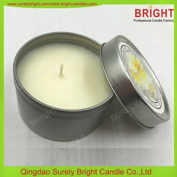 Natural Soy Wax Tin Candle/Natural Body Candles
