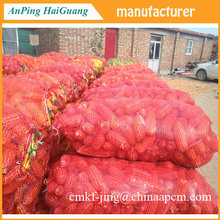 Hot sale porducts mesh bag flat yarn by round yarn and onion leno mesh bags from china supplier