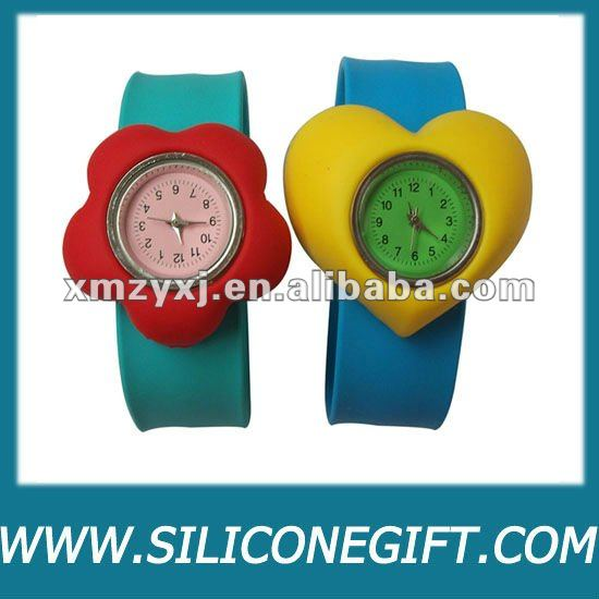 silicone kids waterproof slap watch