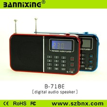2015 nóng bán B-718 TF card FM radio MP3 audio player portable speaker mini