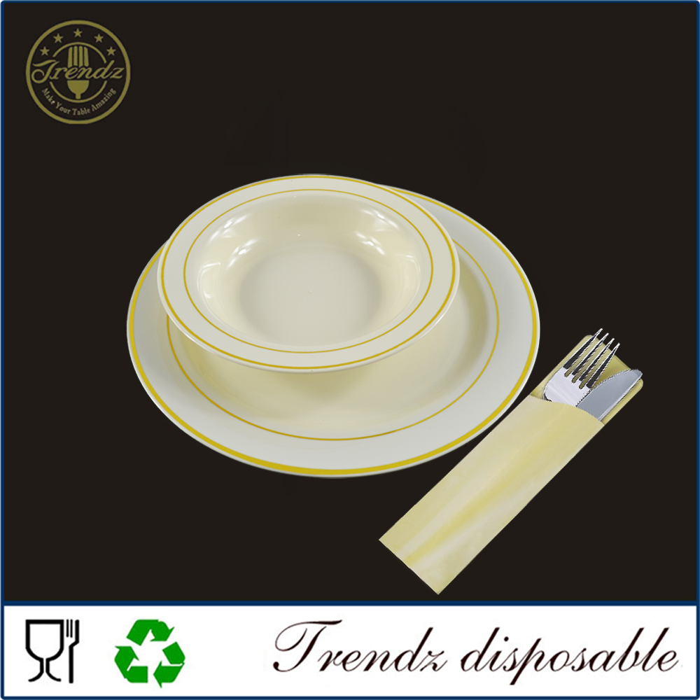 Round PS Plastic Plate For Restaurant