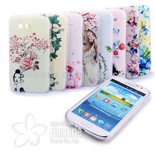 new avrial hot selling pastic painted back covers diamond case for Samsung Galaxy Grand duos i9082