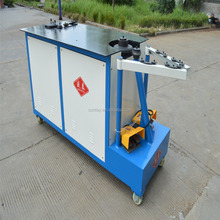 Elbow forming machine for spiral round duct machines