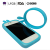 hot selling 100%food grade Rabbit ear Silicone wrist circle phone case