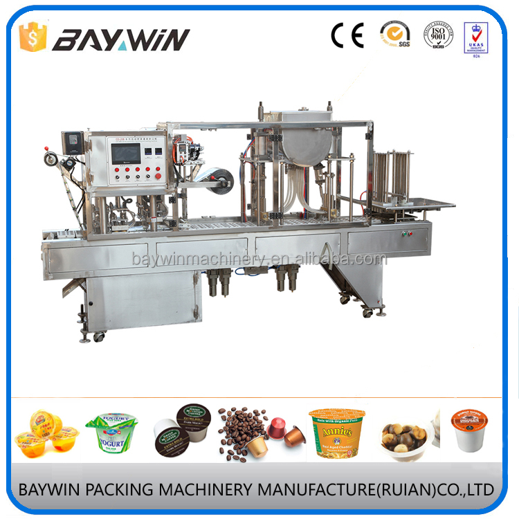 Auto Jelly Plastic Cup Filler and Sealer Equipment,Cup Filling and Sealing Machine Supplier