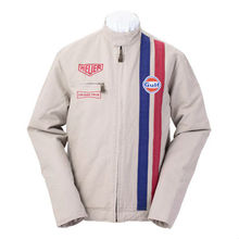 Steve McQueen Grand Prix Leman Cotton White Jacket