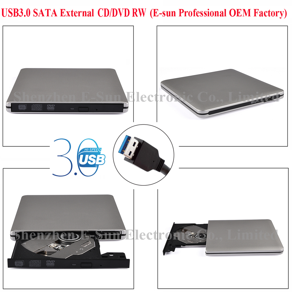 ODP95-3DW-SIL DVD Drive with USB3.0 Port,Used to 2.5 Inch odd hdd Exchange