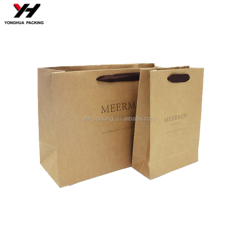 Recyclable Feature and Shopping Industrial Use food packaging paper bags with window